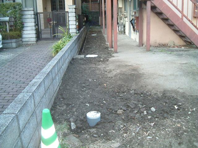 屋外排水管やりかえ工事