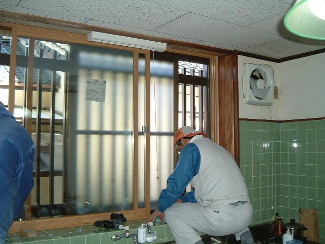 二重窓工事