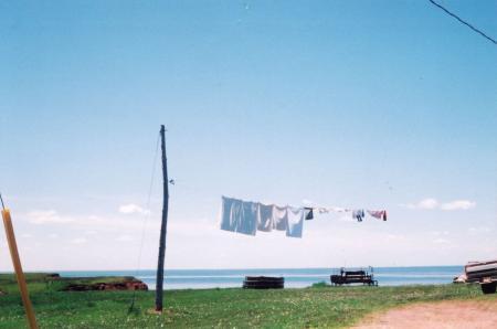 カナダ・洗濯物