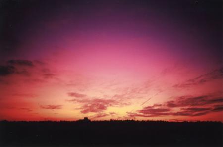 千葉の夕日