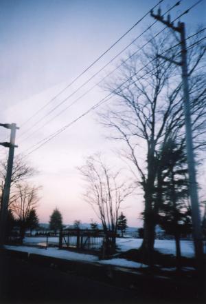 車中からの雪景色