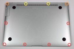 MacBook Air底面ビス10本