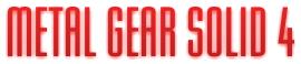 MGS4タイトルロゴ