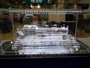 JAMでのアクリル機関車展示の様子