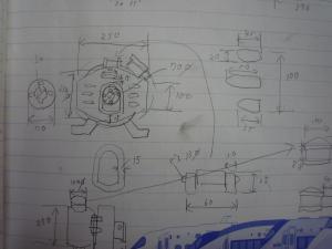 発電機 採寸メモ