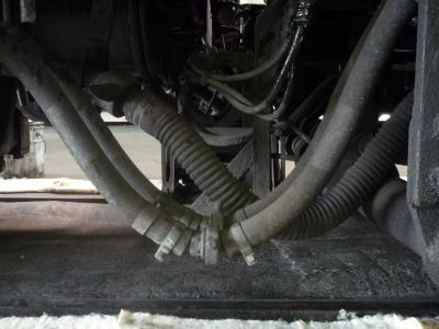 8630号機 炭水車との配管