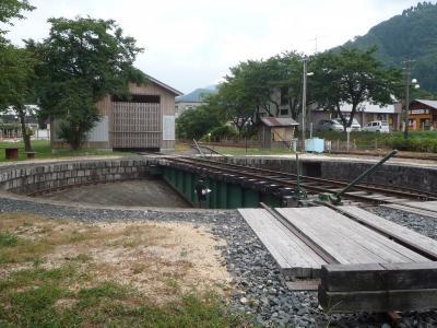 若桜鉄道 転車台と機関庫