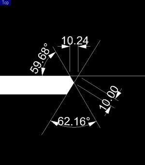桔梗 天板カットモデル 背面板との角度