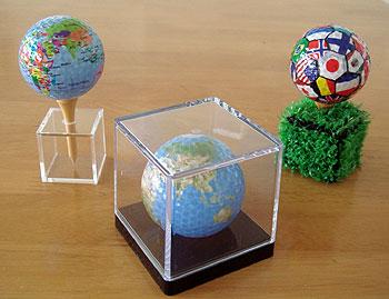 地球儀&国旗柄 ゴルフボール