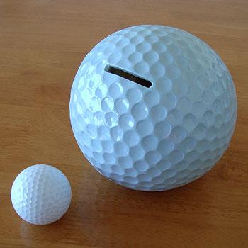 ゴルフボール型 貯金箱!