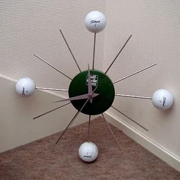ゴルフボール付き ウォールクロック