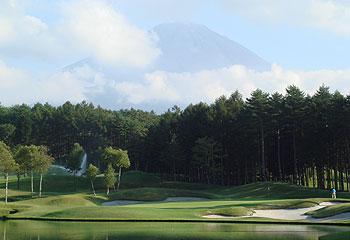 富士山を見ながらラウンド