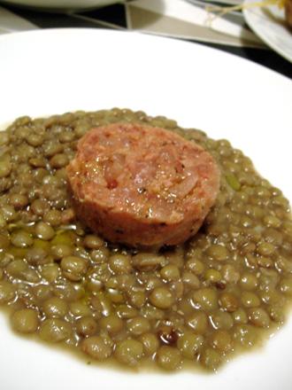 コテキーノ&レンズ豆
