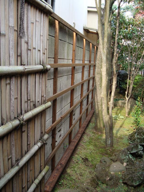 竹垣の骨組