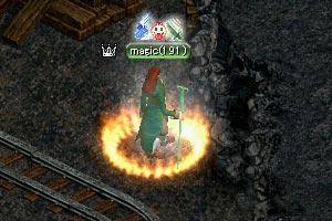 緑に光る杖