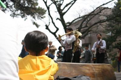 音楽隊に夢中♪ 20090405 さくら祭り