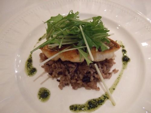 ル・ヴェルデュリエ - 真鯛のポワレ、雑穀の松茸ごはん添え.jpg