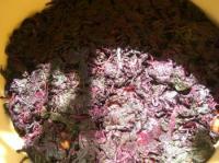 梅4キロに赤紫蘇1キロ入れました