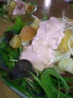 二色の小芋のピンクマヨネーズサラダ
