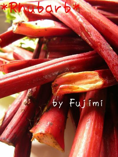 長野県富士見町の元気なオバサマ方が作る真っ赤なルバーブ