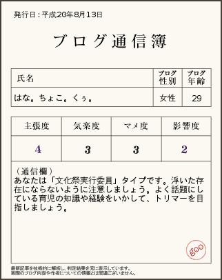 ブログ通信簿8月13日