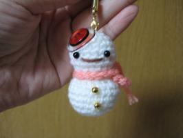 編み雪だるまちゃん