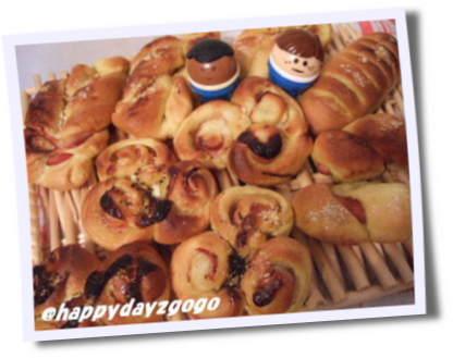 カレーベーコンパン+ソーセージパン