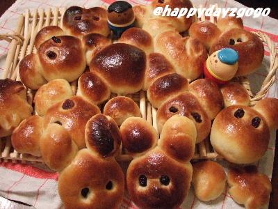 どうぶつパン♪