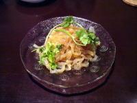 前菜クラゲの醤油炒め