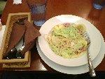 ペペロンチーノ(食べかけ)