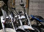 朝のバイク達
