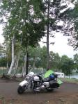 朱鞠内湖畔にて