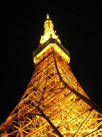 春分の日の東京タワー