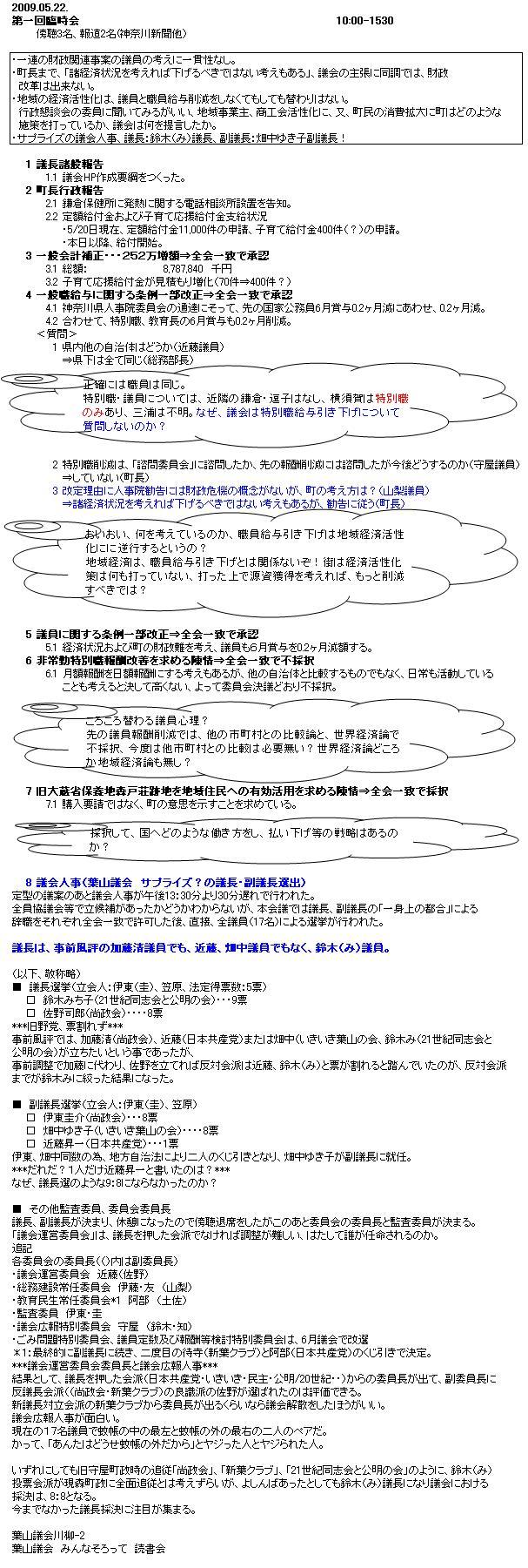 臨時会傍聴090528