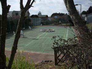 テニスコートはドッグラン