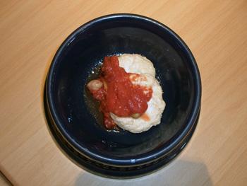 豆腐と鶏肉のハンバーグ