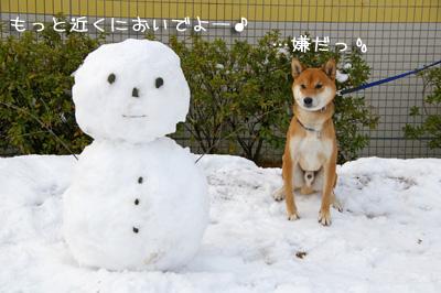 雪だるまさんと記念撮影