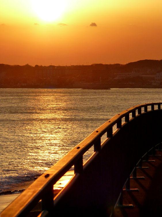 080210野比海岸の落陽1
