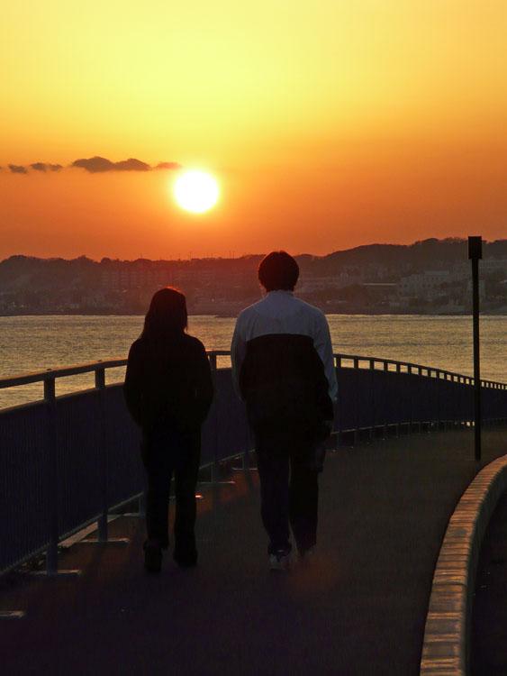 080210野比海岸の落陽2