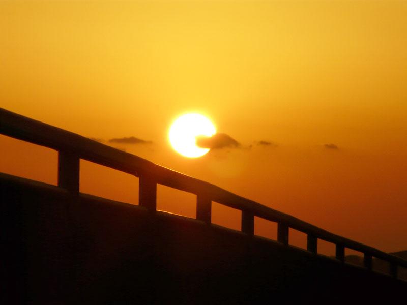 080210野比海岸の落陽3
