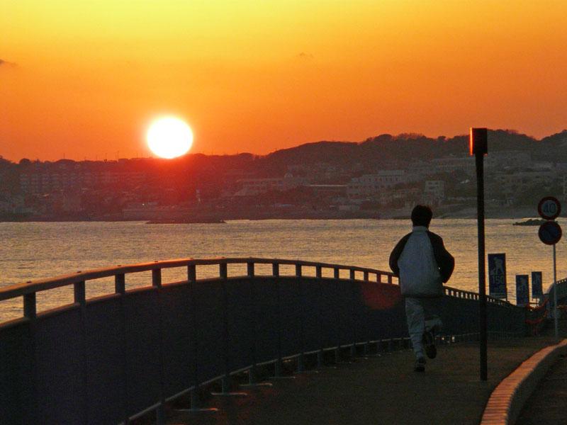 080210野比海岸の落陽4