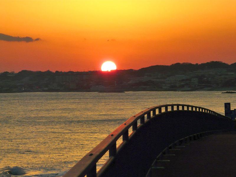 080210野比海岸の落陽5