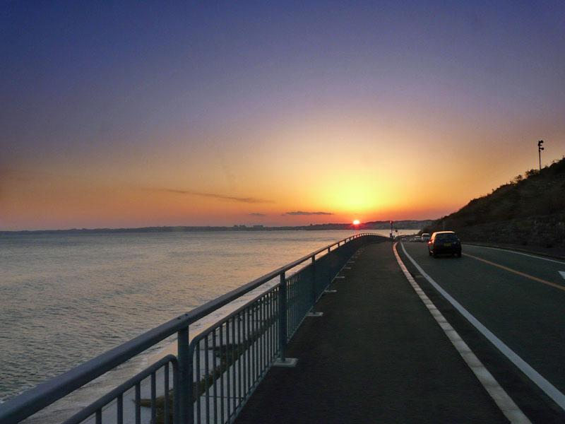 080210野比海岸の落陽6