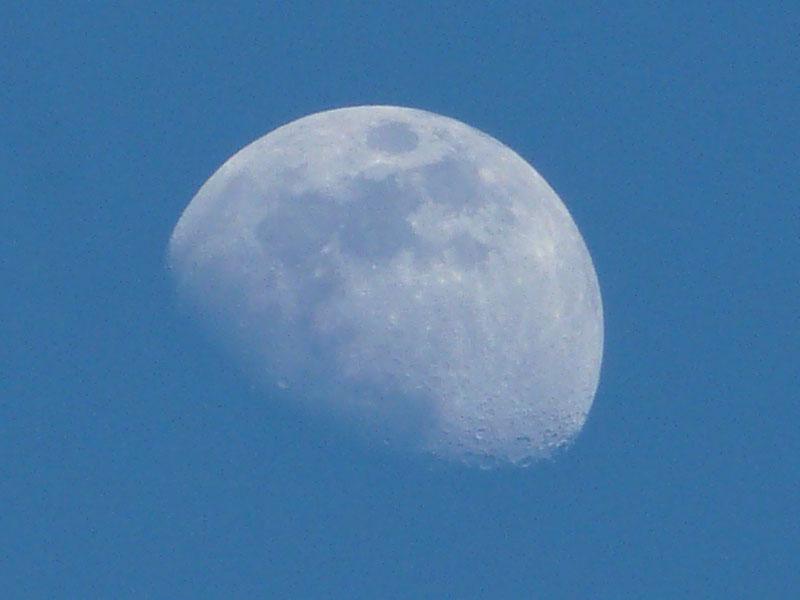 080216今日の月と夕日2