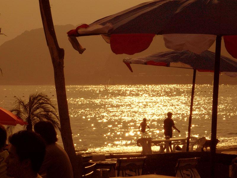 080713逗子海岸夕照1
