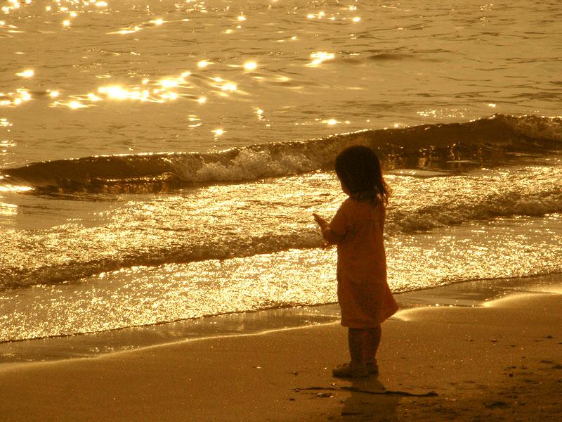 080713逗子海岸夕照2