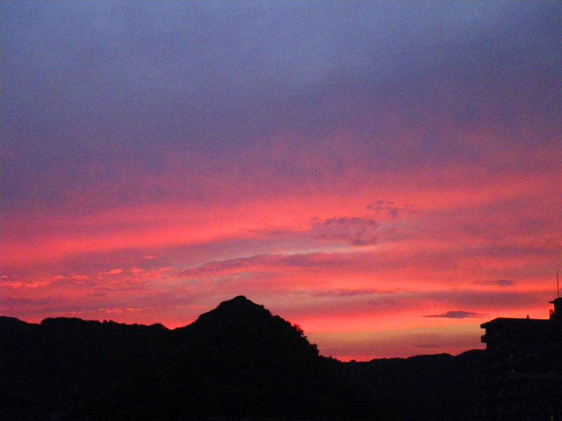 080728今日の夕焼け1