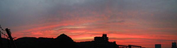 080728今日の夕焼け2