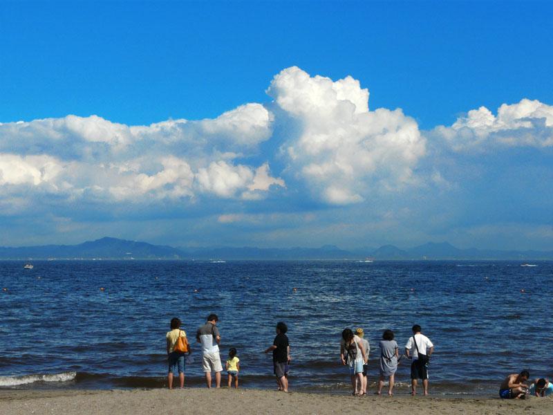 8月31日、三浦海岸。1
