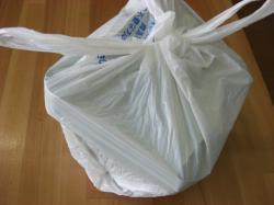 レジ袋の中のあんぽっか